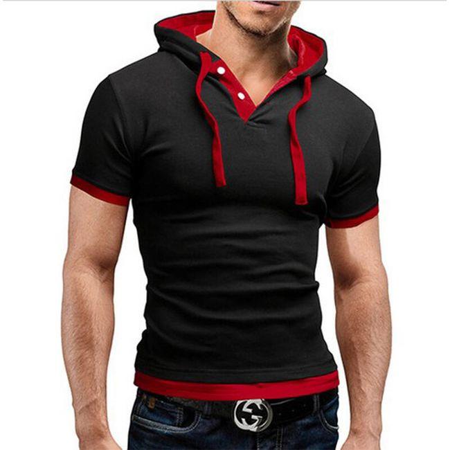 Pánské obtažené tričko s kapucí 1