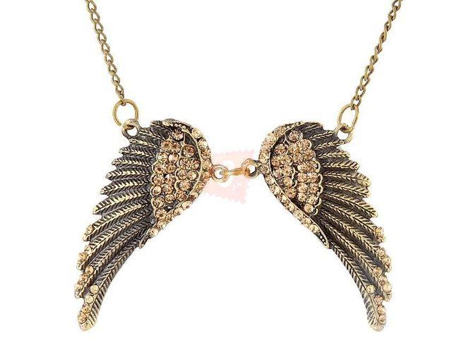 Náhrdelník s křídly - zlatá barva 1