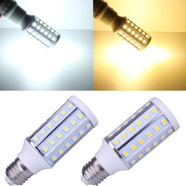10 W-os LED-es izzó 60 LED-del - 2 világos szín (E27 foglalat) 1