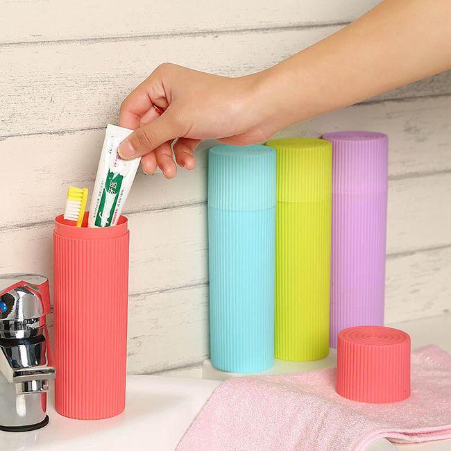 Suport portabil pentru pastă de dinți și periuță 1