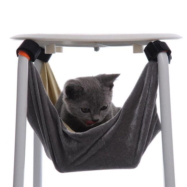 Houpací síť pro kočičky na suchý zip 1