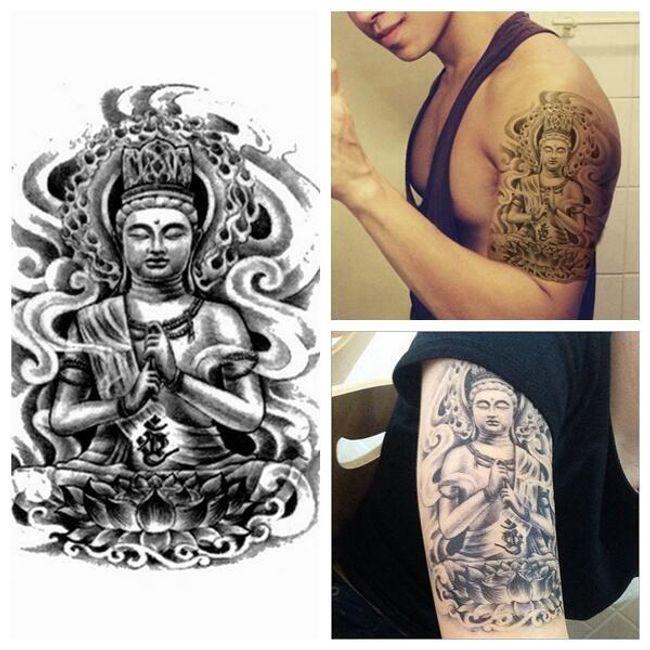 3D переводная татуировка- Будда 1