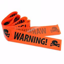 Halloween şeridi Warning