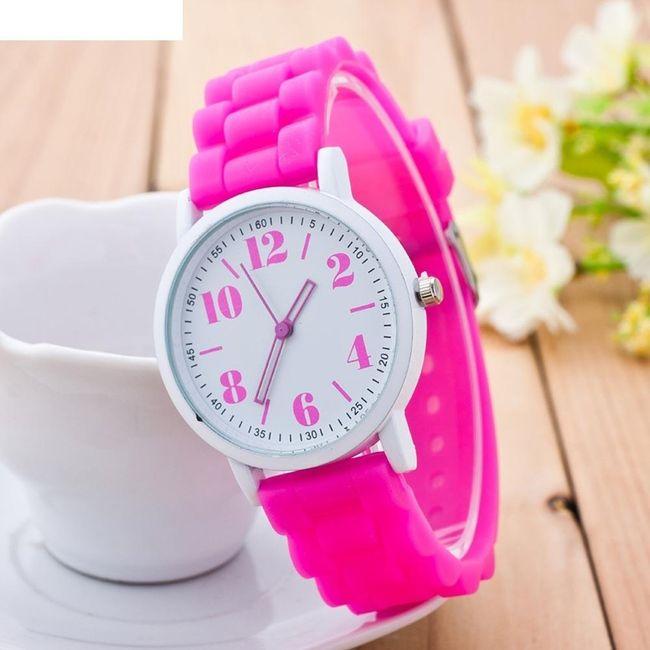 Silikonové analogové hodinky s nebo bez krabičky - různé barvy 1