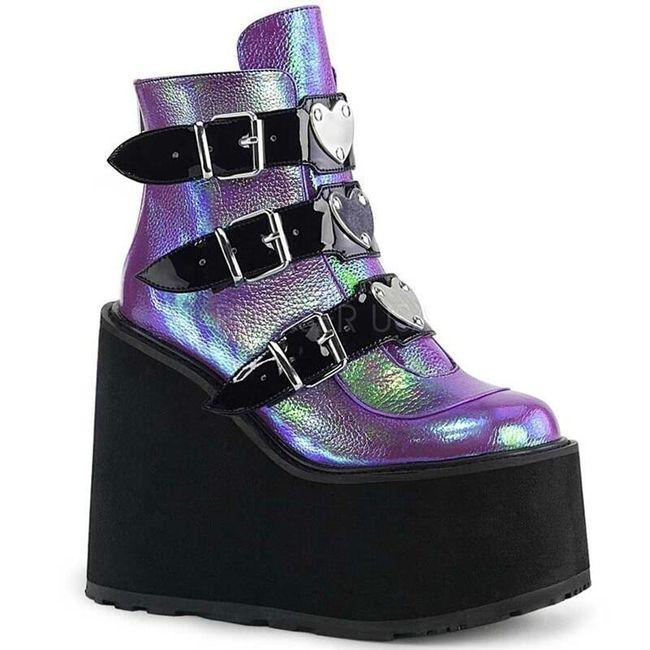 Damskie buty na platformie TF9217 1