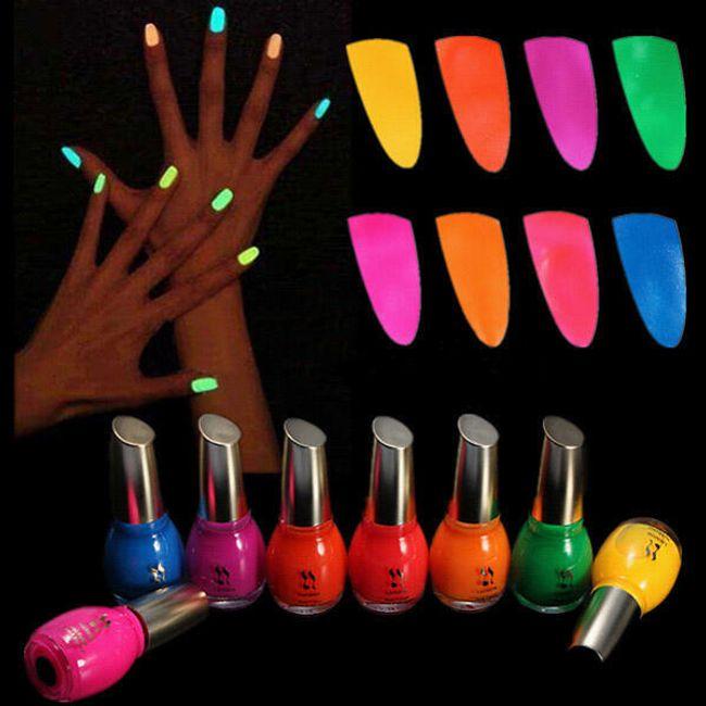 Neonový lak na nehty - na výběr z osmi barev 1
