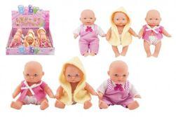 Miminko panenka pevné tělo plast 12cm 3druhy RM_00311623