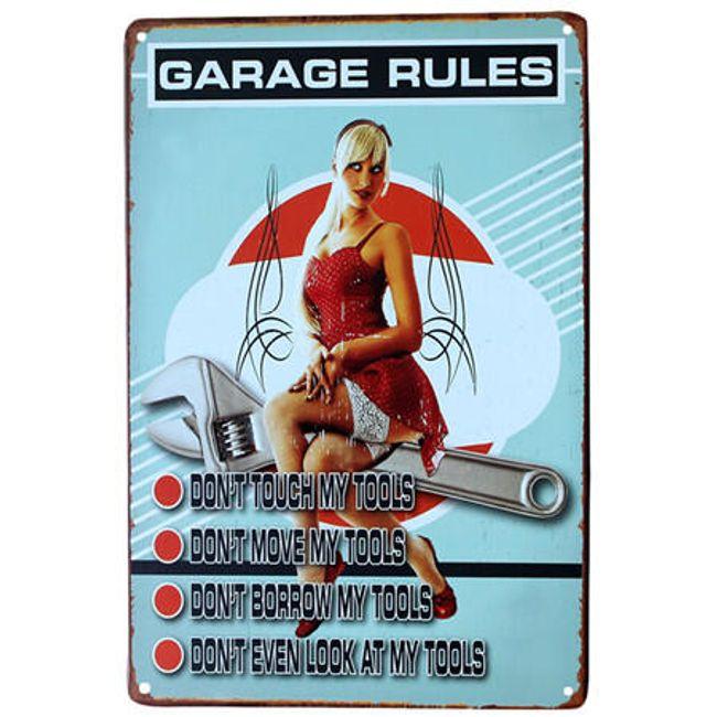 Retro znak za garažo - 7 različic 1