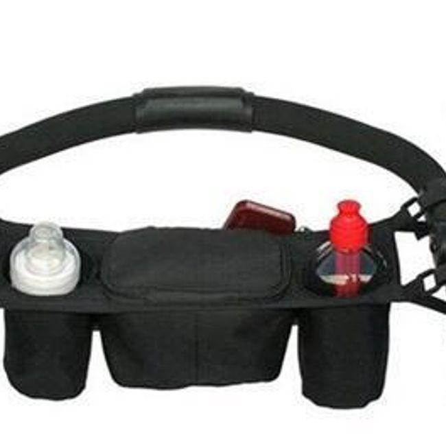 Polička - organizator za otroški voziček - črna 1