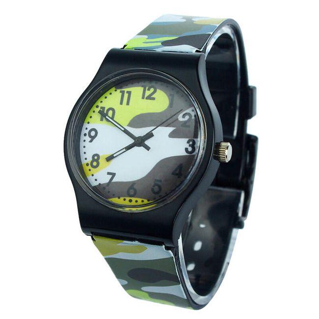 Zegarek dziecięcy z wzorem wojskowym - 5 kolorów 1