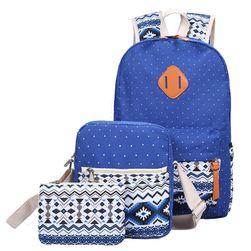Комплект - раница, чанта през рамо и малка чанта