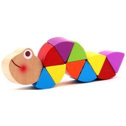 Kolorowe drewniane zwierzątko