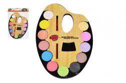 Vodové barvy 12ks + štětec na paletě 19x28cm plast v sáčku RM_49831206