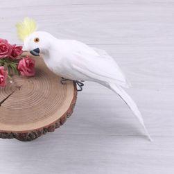 Realistický papoušek Arro - Bílá-25cm
