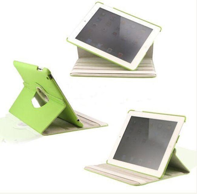 Otočné elegantní ochranné pouzdro se stojánkem pro iPad2- umělá kůže zelená 1