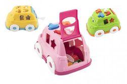 Auto vkládačka plast 24x17cm 3 barvy v síťce 12m+ RM_00880041