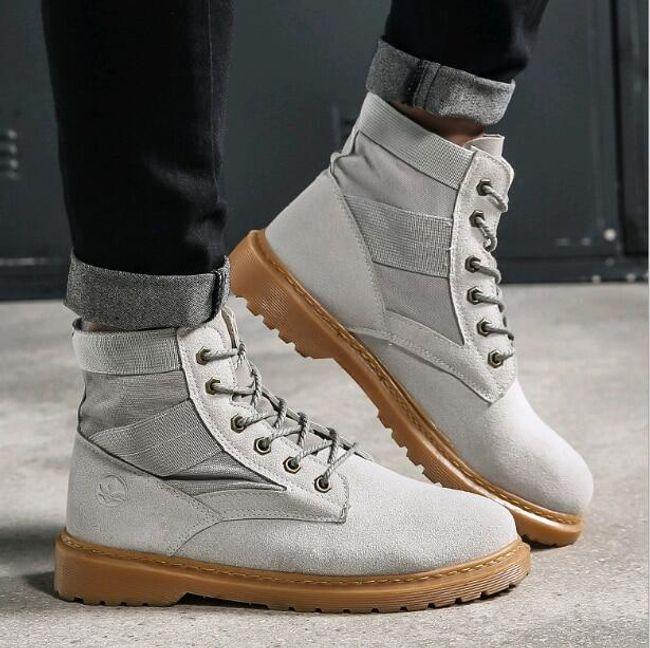 Férfi fűzős műbőr téli cipő - 3 szín