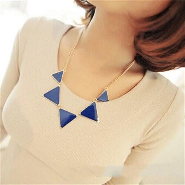 Náhrdelník s trojúhelníky - 4 barvy 1