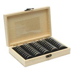 Kutija sa 50 kapsula za kolekcionare kovanog novca