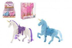 Jednorožec kôň flíska so sedlom 16cm 3 farby v krabičke 16x17x5,5cm 12ks v boxe RM_49114581