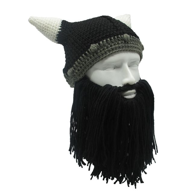 Zimska pletena kapa sa bradom Viking 1