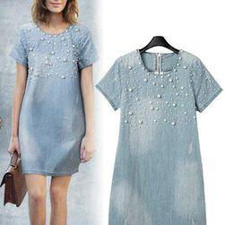 Dámské letní džínové šaty