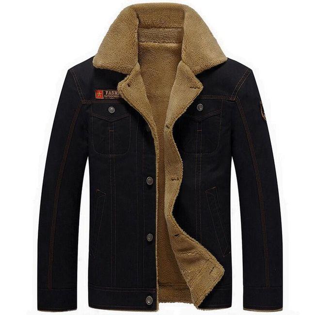 Pánská zimní bunda Elliot s nášivkou 1