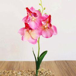 Sztuczna orchidea z trzema kwiatami - 5 kolorów