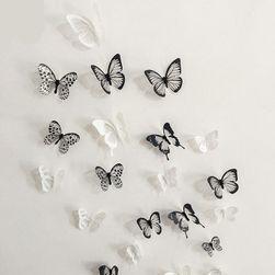 3D pillangó matricák falra, hűtőszekrényre vagy bútorokra