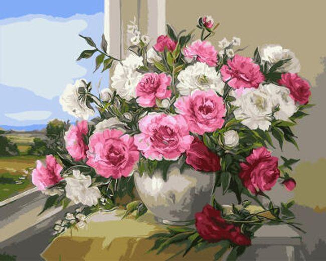 Живопись по номерам (без рамки)- Розы 1