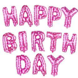 "Balone pentru zi de naștere ""Happy Birthday"""