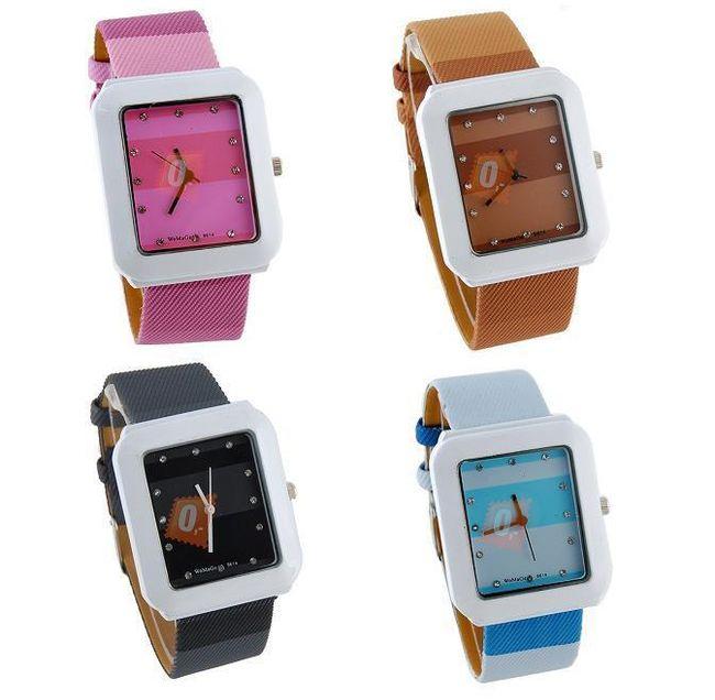 Dámské náramkové hodinky ve 4 barvách 1