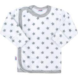 Kojenecká košilka  Classic II s hvězdičkami - šedá/68 (4-6m) SR_892827
