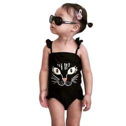 Dívčí plavky tygřím obličejem - 5 velikostí