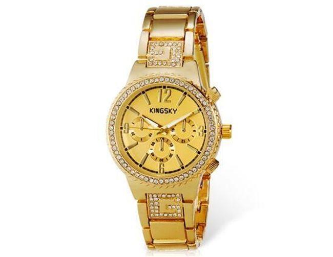 Dámské luxusní hodinky KINGSKY s kamínky 1
