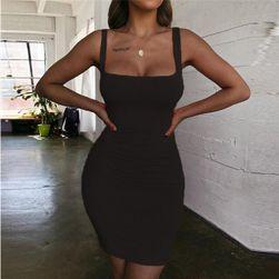 Ženska mini obleka Pella Črna - velikost XS
