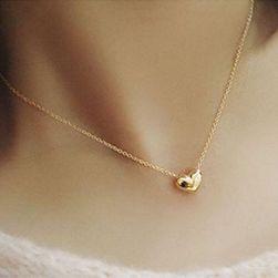 Naszyjnik z małym serduszkiem - kolor złoty