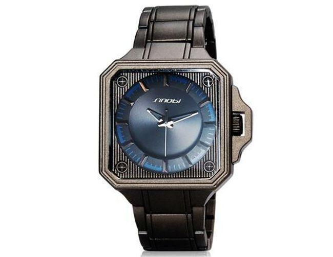Pánské hodinky SINOBI se čtvercovým ciferníkem 1