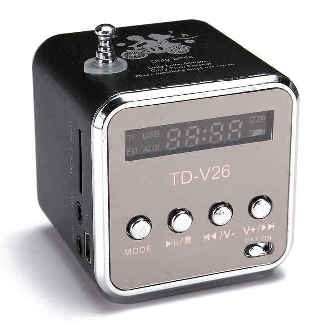 Prenosni mini stereo FM radio i MP3 plejer 1