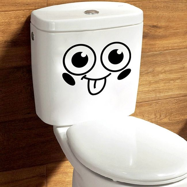 Roztomilá samolepka na toaletu 1