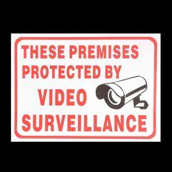 Biztonsági matrica kamerával