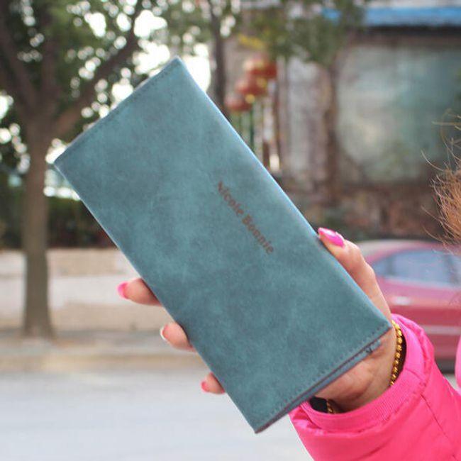 Velká dámská peněženka v pastelových barvách 1