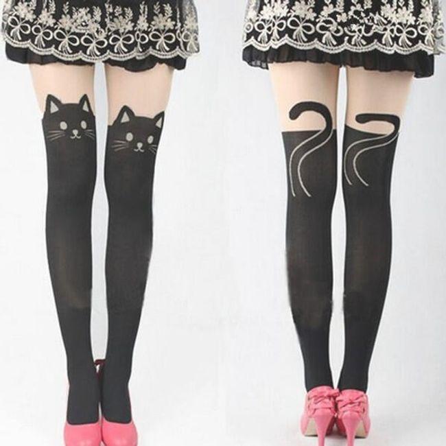 Originalne čarape sa motivima životinja - motiv mačke 1
