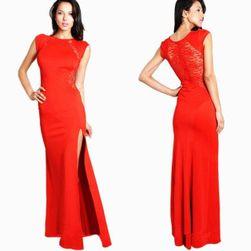 Svečana dolga obleka - 2 barvi Rdeča-velikost št. 3