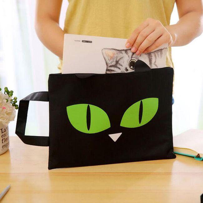 Taška na sešity s kočičíma očima 1