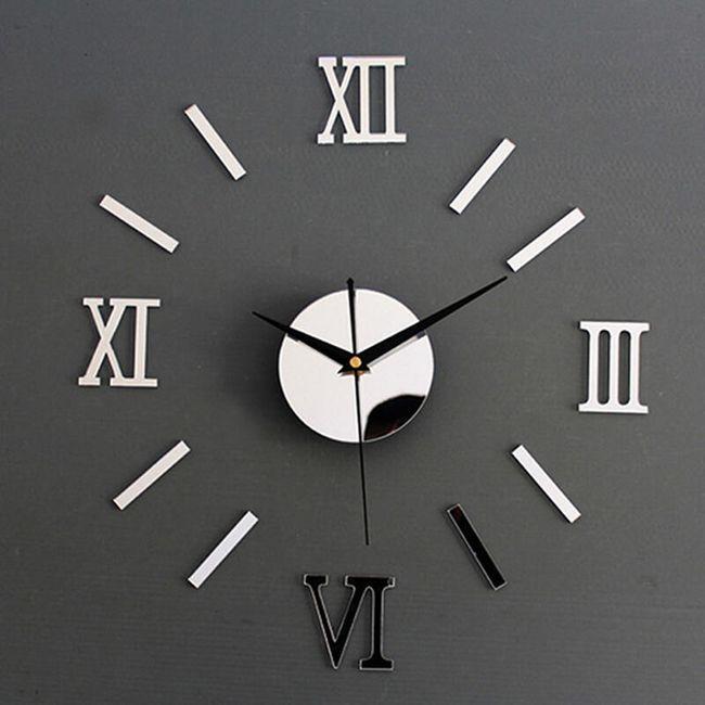 Samolepljivi zidni sat sa efektom ogledala - 4 boje 1