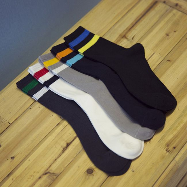 Férfi őszi zokni két csíkkal