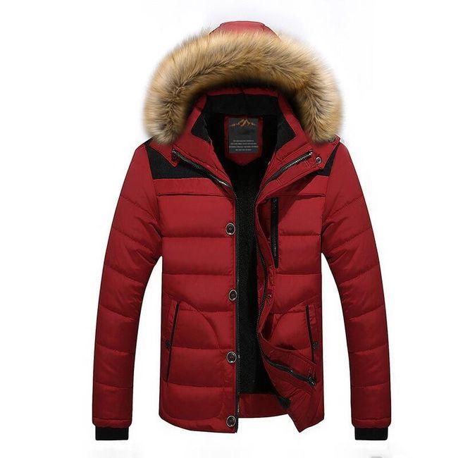 Pánská zimní bunda Oliver - Červená-M 1