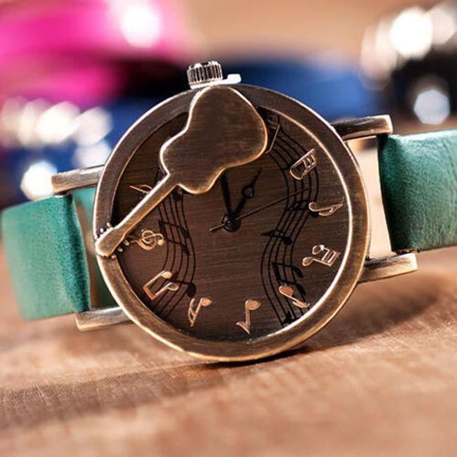 Retro hodinky s hudebním motivem - kytara, 8 barev 1