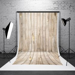 Fotografska pozadina za studio - drvena soba - 1,5 x 2,1 m